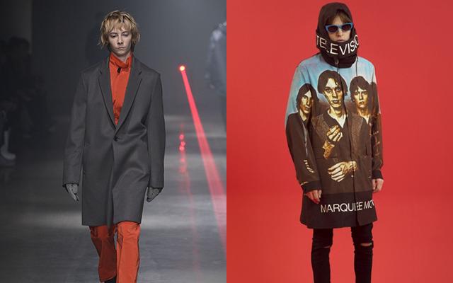 左から「N.ハリウッド」2016-17年秋冬ニューヨーク・メンズ・コレクション、「アンダーカバー」2015年春夏パリ・メンズ・コレクション