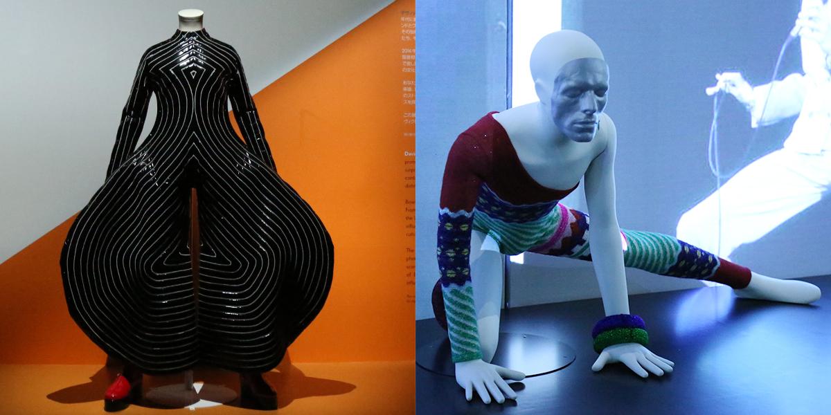左から「TOKYO POP」と「出火吐暴威」。ともに「アラジン・セイン」ツアーの衣装