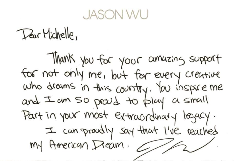 ジェイソン・ウーの手紙 (c) Fairchild Fashion Media