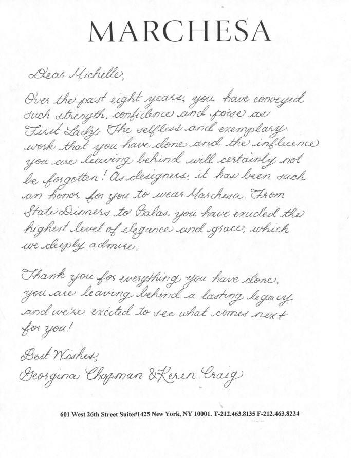 ジョルジーナ・チャップマン&カレン・クレイグの手紙 (c) Fairchild Fashion Media